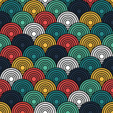 Overlap Circle Pattern Stock Images