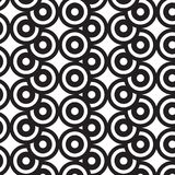 Overlap Circles Illusion Black And White Graphic Pattern Stock Photos