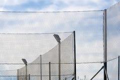 Overlap fences Stock Image