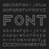 Overlap Font Vector, Alphabet and numbers Design Stock Photography