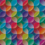 Overlap and transparent circles and squares. Colorful seamless b Royalty Free Stock Images