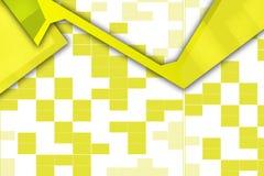overlaping黄色方形的形状,抽象背景 免版税库存图片