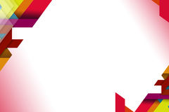 overlaping Formen 3d auf Ecken, abstrack Hintergrund Stockfotos