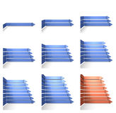 Overlapped eight arrows Royalty Free Stock Images