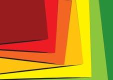 Overlappende bladen Stock Foto
