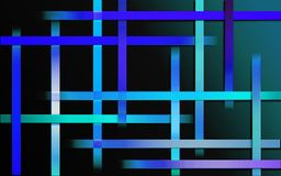 Overlappende Blauwe Strepenachtergrond - Abstract eenvoudig het mozaïekbehang van het barspatroon stock illustratie