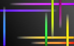 Overlappende Kleurrijke Strepenachtergrond - Abstract eenvoudig het mozaïekbehang van het barspatroon royalty-vrije illustratie