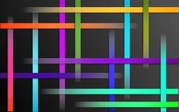 Overlappende Kleurrijke Strepenachtergrond - Abstract eenvoudig het mozaïekbehang van het barspatroon vector illustratie