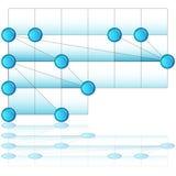 Overlappende Procesgrafiek Stock Afbeeldingen