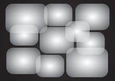 Overlappende rechthoeken Royalty-vrije Stock Foto's