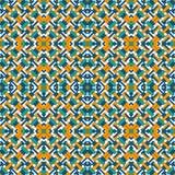 Overlappende rechthoeken en vierkantenachtergrond Naadloos patroonontwerp met herhaalde bekledings geometrische cijfers stock illustratie