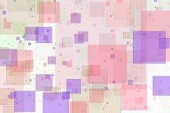 Overlappende vierkanten abstracte achtergrond Stock Afbeeldingen