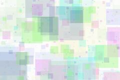 Overlappende vierkanten abstracte achtergrond Stock Foto