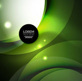Overlapping circles on glowing abstract background Stock Photography