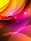 Overlapping circles on glowing abstract background Royalty Free Stock Photo