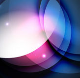 Overlapping circles on glowing abstract background Stock Images