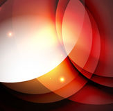 Overlapping circles on glowing abstract background Royalty Free Stock Image