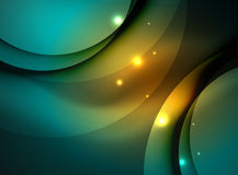 Overlapping circles on glowing abstract background Royalty Free Stock Photos
