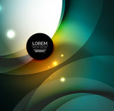 Overlapping circles on glowing abstract background Royalty Free Stock Images