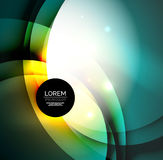Overlapping circles on glowing abstract background Stock Image