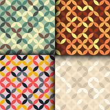 Overlapping circles. Seamless geometric background. Royalty Free Stock Image