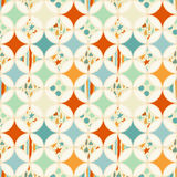 Overlapping circles seamless pattern. With colorful rombus. Can be used for wallpaper, pattern fills, web page background,surface textures Stock Photography