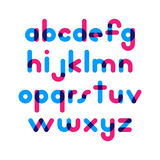Overlapping colorful rounded flat font. Vector letters althabet. On white background Stock Image