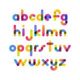 Overlapping colorful rounded flat font. Vector letters althabet. On white background Stock Photography