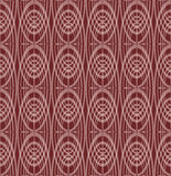 Overlapping concentric oval patterns on dark red background, seamless vector, classic geometric ornament. Vector EPS 10 Stock Photos