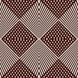 Overlapping diagonal lines background. Grid scrappy checkered texture. Outline seamless pattern with geometric ornament. Royalty Free Stock Image