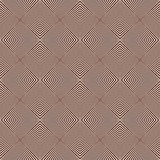 Overlapping diagonal lines background. Grid scrappy checkered texture. Outline seamless pattern with geometric ornament. Royalty Free Stock Photos