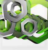 Overlapping hexagons design background Royalty Free Stock Photo
