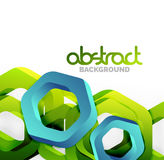 Overlapping hexagons design background Stock Photography