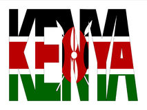 Overlapping Kenya text Stock Image
