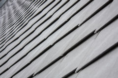 Overlapping metal roof tiles Royalty Free Stock Photo