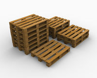 Overlapping Pallets Stock Photography