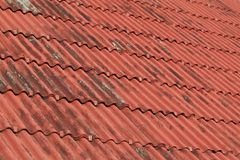 Overlapping the roof with undulating sheet material. Such as slate Royalty Free Stock Photography