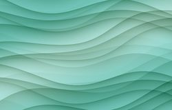 Overlapping sea green soft layered curves abstract wallpaper background Stock Image