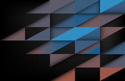 Overlapping shapes, Dark background, Geometric background Stock Photo