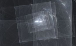 Overlapping silver tile squares. Computer rendered silver fractal tile squares Royalty Free Stock Images