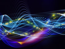 Overlapping sine waves Stock Images