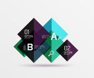 Overlapping square infographics. Vector template background for workflow layout, diagram, number options or web design Stock Images