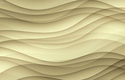 Overlapping tan beige taupe soft layered curves abstract wallpaper background Stock Photography