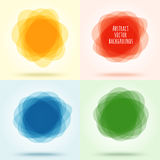 Overlapping translucent spots forming cloud. Abstract color back Stock Photos