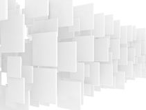 Overlapping white 3d squares Stock Images