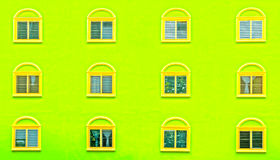 Overlapping windows Stock Photography