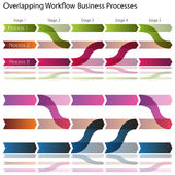 Overlapping Workflow Business Processes Royalty Free Stock Photos