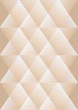 Overlay предпосылка в кубистическом дизайне стиля, белых и бежевых, ромбоподобных картинах с структурой решетки иллюстрация штока