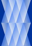 Overlay background in cubist style, white and blue design with grid structure Royalty Free Stock Photos