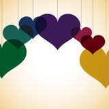 Overlay heart card Royalty Free Stock Photo
